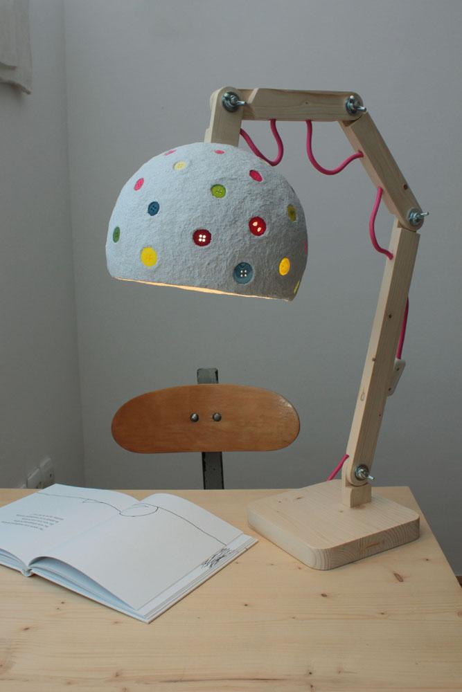 Paper mache desk lamp (3)