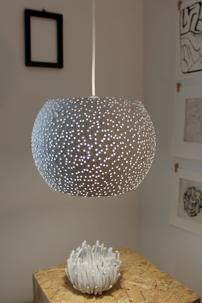 Paper mache pendant light - glassbeads2 (2)
